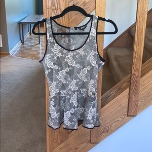 Los Angles Lace Peplum Tank Top size XS